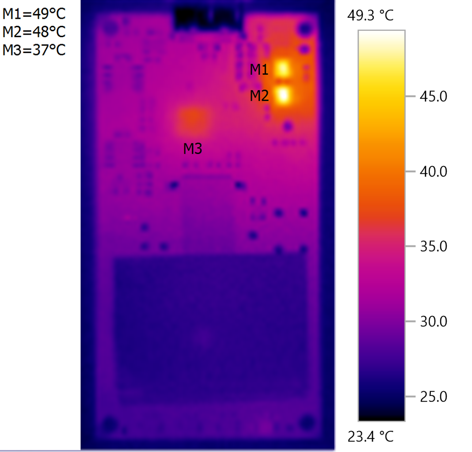 Thermal image of USB3 loopback plug