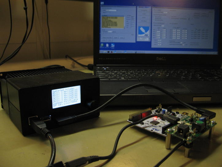 USB TypeC power delivery testing with development board
