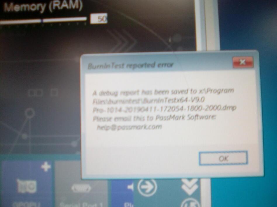 error with new version BiT 9 1014 - PassMark Support Forums