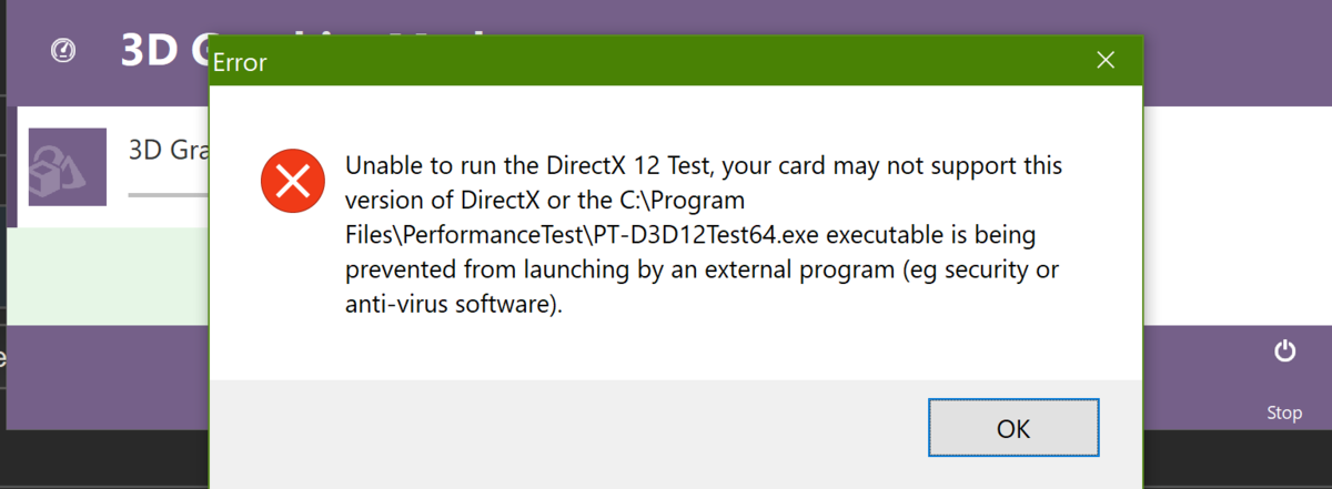 DirectX 12 Test failing in machine with RTX 2060 - PassMark Support