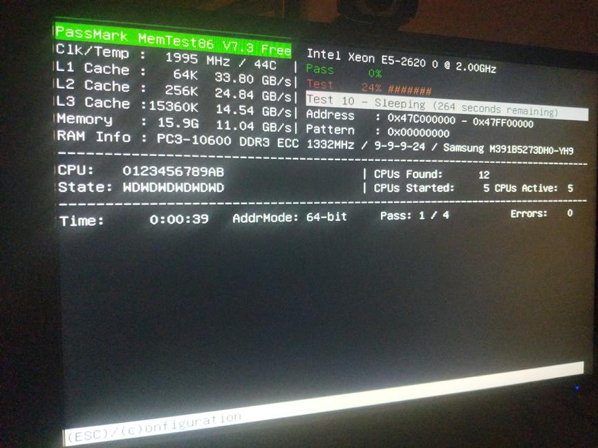If anyone is following this - I found a version of 7.3 that is running the test.    PC is using a C600 chipset.